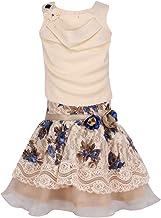 Cutecumber Girl's Georgette Skirt Suit