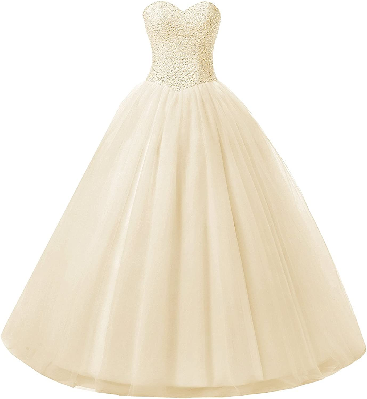 Future Girl Women's Ball Gown Tulle Sweetheart Bridal Wedding Dresses