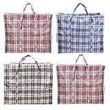 AAYAW Pack of 4 Extra Large Laundry Bags, Shopping Bags, Storage Box, Laundry basket,60cmX50cmX25cm/20cm (10%+/-) Moving Boxes, with Zipper & handles Reusable Storage zip bag Durable Laundry Bag.