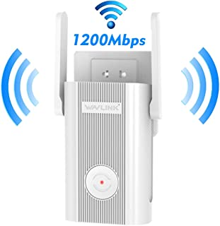AC1200 WiF Booster for Home, Wireless Repeater up to 1200Mbps 2.4 + 5Ghz Dual Band,High Speed WiFi Extender 1200 Mbps with...