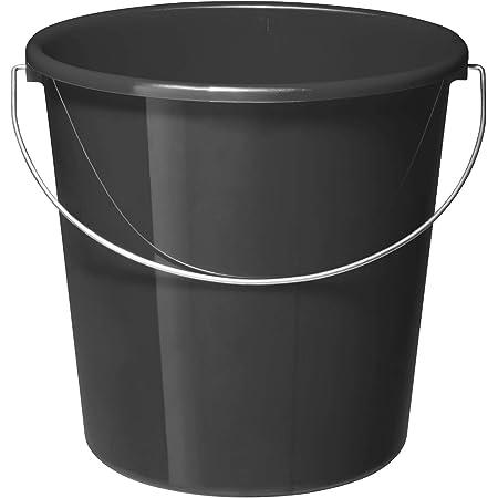 Rotho Vario Seau de 10l avec anse, Plastique (PP) sans BPA, anthracite, 10l (28.0 x 28.0 x 26.0 cm)