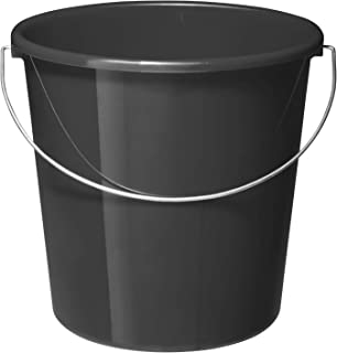 Rotho Vario Seau de 10 l avec Anse, Plastique (PP) sans BPA, Anthracite, 10 l (28,0 X 28,0 X 26,0 cm)
