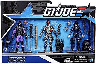 G.I. Joe, 50th Anniversary, Cobra Legion Exclusive Action Figure Set (SAW Viper, Cobra BAT, and Cobra Officer), 3.75 Inches