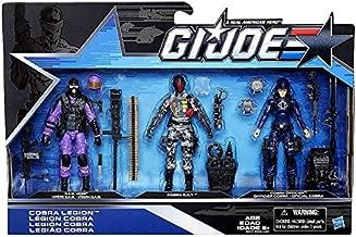 G.I. Joe, 50th Anniversary, Cobra Legion Exclusive Action Figure Set (SAW Viper, Cobra BAT, and Cobra Officer), 3.75 Inches