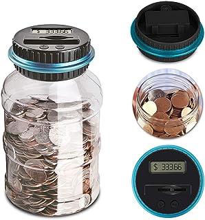TOOGOO Contador de moneda digital electronico tarro de conteo de dinero automatico Hucha de ahorro