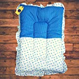 Aayat Kids ® Baby Mattress Cotton Printed Baby Other Toddler Bedding Mattress/BabyBeddingMat/Bedding/SleepingMat/BabyBed(L-33 Inch, W-19 Inch)(Upto 12 Months,Blue)