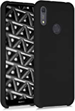 kwmobile TPU Silicone Case Compatible with Huawei Y6s (2019) - Soft Flexible Rubber Protective Cover - Black Matte
