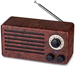 Retro Bluetooth Speakers, Dual 10W Classic Vintage Style Wireless with 10-Hour Playing Time, FM Radio, Built-in Mic, Hands...