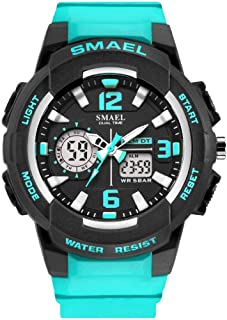 Women's Sport Wrist Watch,Quartz Dual Movement with Analog-Digital Display Watches for Women - Turquoise