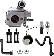 Dxent HD-34A Carburetor w Fuel Line Filter Gas Cap for STIHL MS361 MS361C MS341 Chainsaw