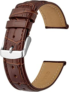 Anbeer Casual Watch Strap 18mm 20mm 22mm, Alligator Grain leather Watch Band for Men Women