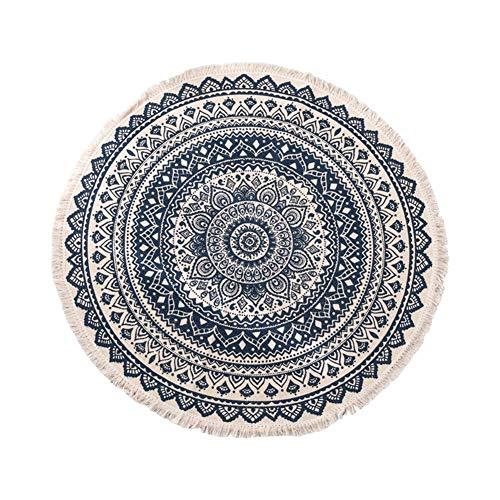 Sunneey Mandala Runde Teppich Tapisserie Zigeuner Yoga Matte Strand Tischdecke Beach Handtuch im Boho-Stil geeignet als Tischdecke Durchmesser: 92cm