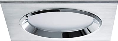 Paulmann 92696 Premium encastres Dice LED 3x8W, carré, 36VA, 230V/ 700mA, 150x150mm, Alu brossé, Alu/Verre
