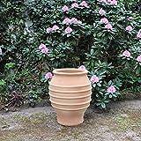 Agave, anfora mediterranea in terracotta per giardini, terrazze ed esterni, vaso in ceramica di alta qualità, 35-100cm