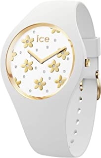 Ice-Watch - Ice Flower Precious White - Montre Blanche pour Femme avec Bracelet en Silicone - 016658 (Small)