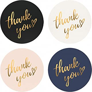 Goodern 3 Rolls Thank You Stickers Roll 1inch, Waterproof, 1500 Labels for Small Business, Packaging, Mailer Seal Sticker...