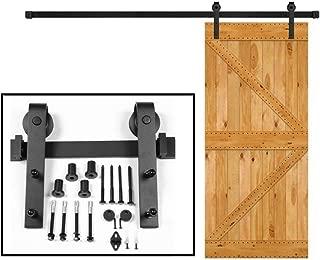 Sliding Door Hardware barn Door Hardware Carbon Sliding Wood Door Hardware (5FT Single Kit)