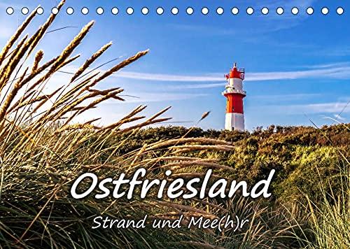 OSTFRIESLAND Strand und Mee(h)r (Tischkalender 2022 DIN A5 quer): Stimmungsvolle Nordsee-Landschaften (Monatskalender, 14 Seiten ) (CALVENDO Orte)