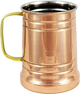 German Style Hammered Copper Beer Stein - 100% Pure Heavy Gauge Copper Beer Mug - 20 oz