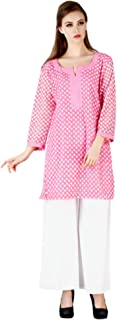 MEVE Readymade Pink Embroidered Designer Kurta and Palazzo Set