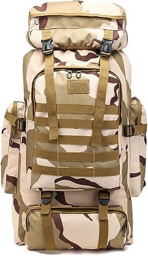 Sakuldes Multifonction Sacs à Dos Oxford Tissu Camouflage résistant à l'usure Tactics Camping en Plein air Sac à Dos Hommes et Femmes (Couleur   Camouflag)