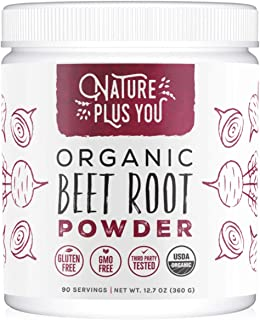 Sponsored Ad - Organic Beet Root Powder: Nitric Oxide Booster, Circulation and Stamina Increasing, USDA Organic, Vegan Bee...