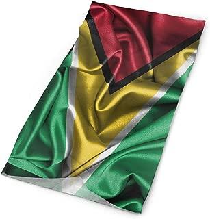 Flag Of Guyana Men Women Face Mask Neck Gaiter Sun Shade Shield Bandanas Headwear Wide Headbands Scarf Head Wrap
