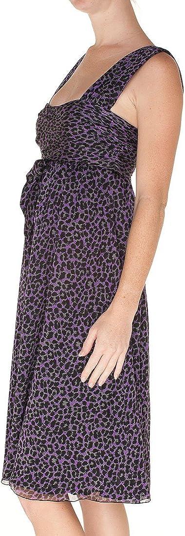 Armani Collezioni Purple Silk Knee Length Dress