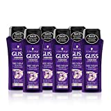 Gliss Shampoo Fiber Therapy – Paket von 6 x 250 ml – Total: 1500 ml