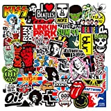RGBEE Rock Band Punk Aufkleber 100 Stücke, Wasserfeste Vinyl Sticker Set für Laptop, Koffer, Helm, Motorrad, Skateboard, Snowboard, Auto, Fahrrad, Computer, Trend Aufkleber Decals