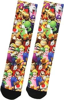 Nintendo Mario Bros. Collage Group Photo Premium Sublimated Crew Socks