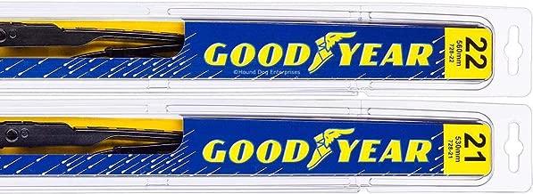 Premium - Windshield Wiper Blade Bundle - 3 Items: Driver & Passenger Blades & Reminder Sticker fits 2014-2015 Jeep Grand Cherokee