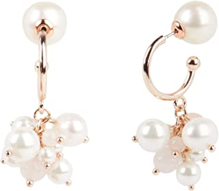 Carolee Women's Cluster Pearl Drop Earring