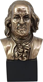 Ebros American Founding Father Benjamin Franklin Bust Statue 8.75