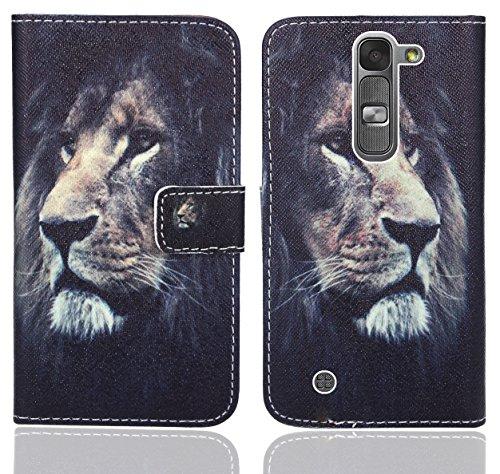 LG Magna / LG G4C Handy Tasche, FoneExpert® Wallet Hülle Flip Cover Hüllen Etui Ledertasche Lederhülle Premium Schutzhülle für LG Magna / LG G4C (Pattern 4)