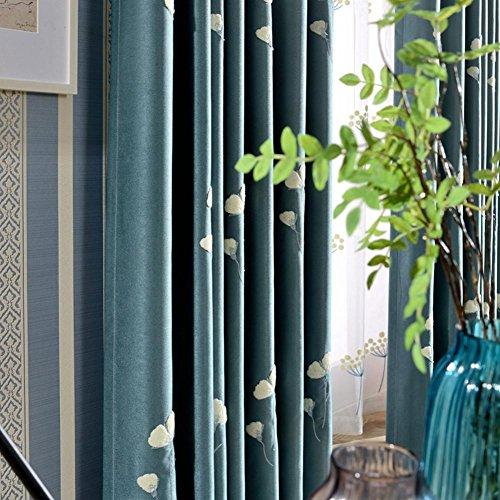 SLIAO HOME brodée et Rideaux occultant fenêtre traitements Produit Fini Chambre à Coucher Salon Moderne Rural Flottant Rideaux pour Baie vitrée/, 1pc(150x260cm)