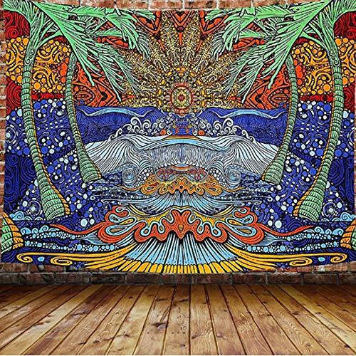 Tapiz psicodélico mandala colgante de pared patrón de colores manta de yoga tapiz de tela de fondo para el hogar A12 180x230cm
