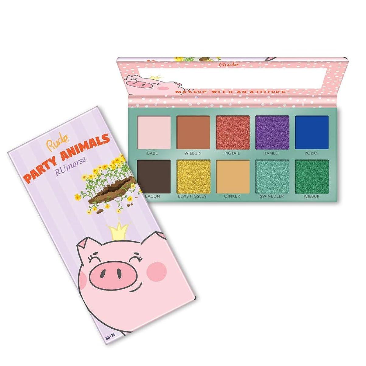 テーマラップせがむ(6 Pack) RUDE? Party Animals 10 Eyeshadow Palette - RUmorse (並行輸入品)