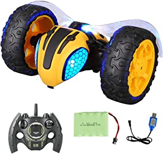 Fine Electric Lightnings RC Car,Radio Controlled Race Car, 360 Degree Spins & Flips/Auto Drive Mode/Extra Large Rubber Tyres & Powerful Motor,Rechargable Off Road Race Car
