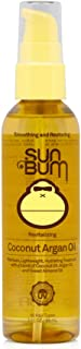 Sun Bum Coconut Argan Oil | Vegan and Cruelty Free Protecting and Strengthening Oil for All Hair Types | 3 oz, Clear, Mode...