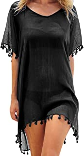 Women's Chiffon Tassel Kaftan Swimsuit Beach Cover Up