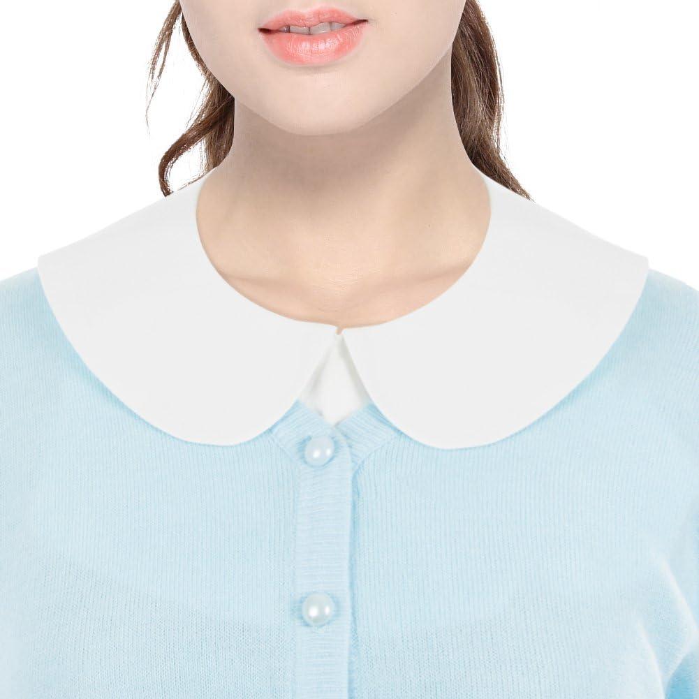 ANZERMIX Womens Fashion Detachable Shirt Blouse False Collar 2 Colors