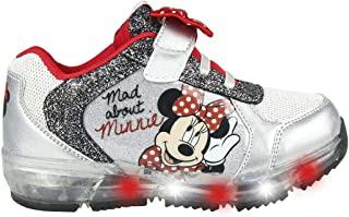 CERDÁ LIFE'S LITTLE MOMENTS Cerdá-Zapatilla con Luces Minnie Mouse de Color Plateado, Niñas