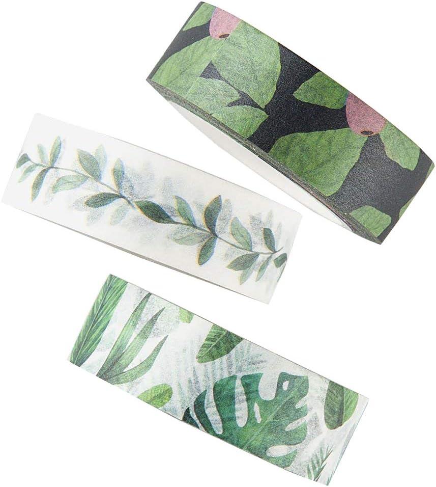 Summer Tropical Green Washi Tape 15mm BOHO Washi Tape Leaves Washi Tape Spring Summer Washi Tape