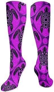 Calcetines de tortuga en color lila, para mujer y hombre, divertidos, unisex, multicolor, de algodón