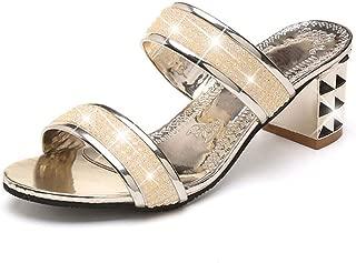 jingxlkd - Zapatillas de Mujer con Diamantes de imitación, Sexy, sin Cordones, para Mujer