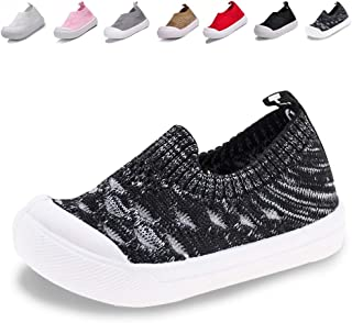 Sawimlgy US Toddler Little Kid Boys Girls Lightweight Breathable Sneakers Slip-On Shoes Running Walking Casual Knit Sock Shoes