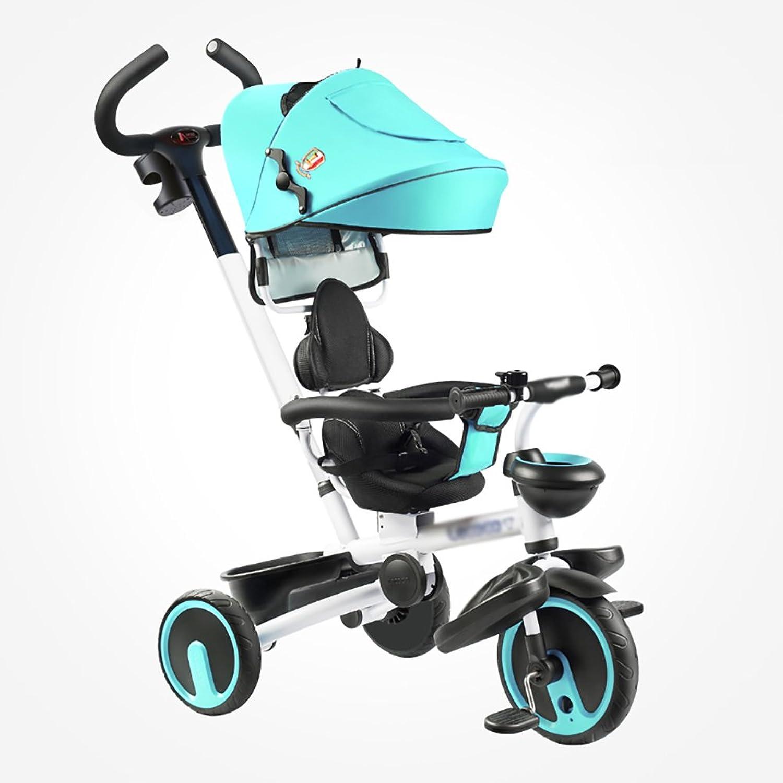 buena calidad Triciclos- Bicicleta portátil para Niños Trike Niños 1-6 años de de de Edad Bicicleta Preescolar para bebés (Color   Azul)  almacén al por mayor