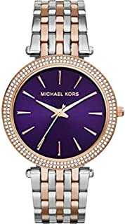 Michael Kors Darci Watch for Women - Analog Stainless Steel Band - MK3353