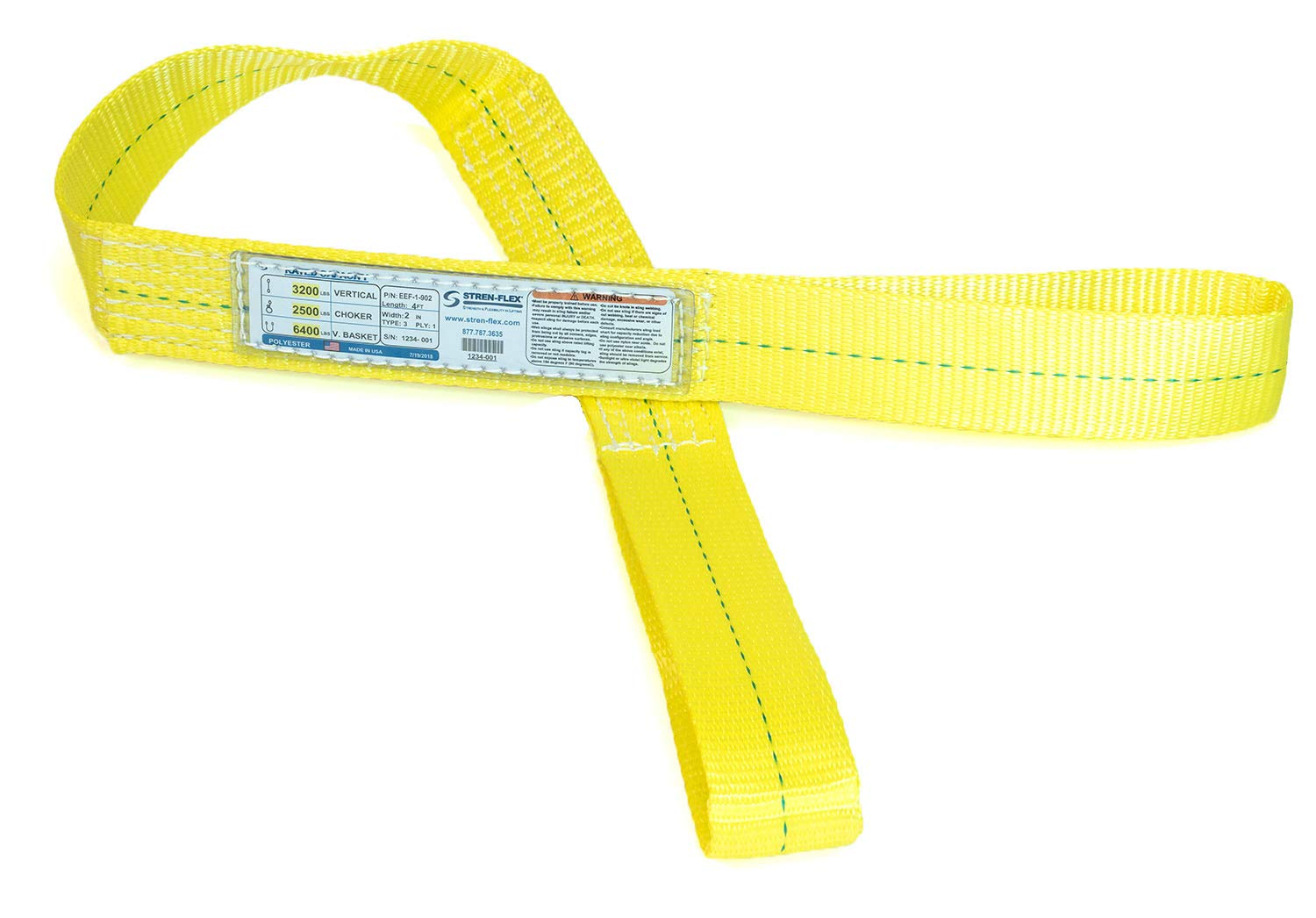 Stren-Flex - Made in USA 18 Discount Inexpensive mail order ft Sling We Web Flat Eye Polyester